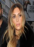 Kim Kardashian - O&A in Paris Shopping - January 2014