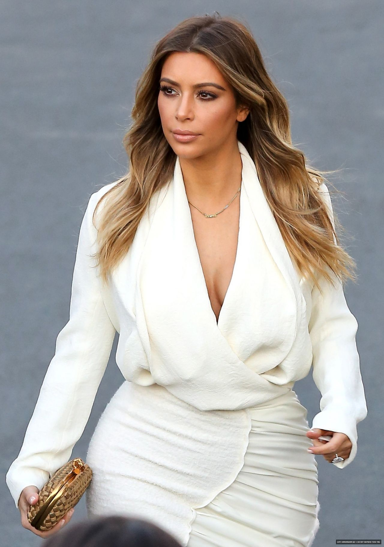 Kim Kardashian Style - Arriving to The Ellen DeGeneres Show in Burbank, January 2014