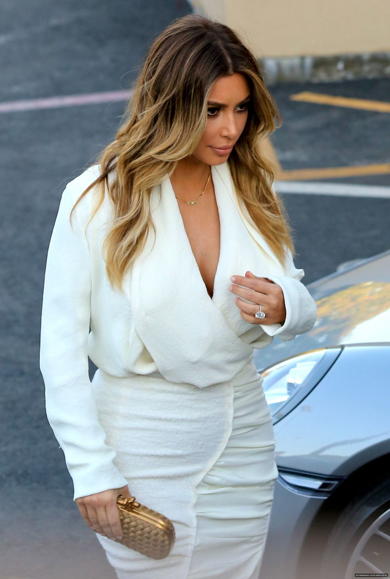 Kim Kardashian Style Arriving To The Ellen Degeneres