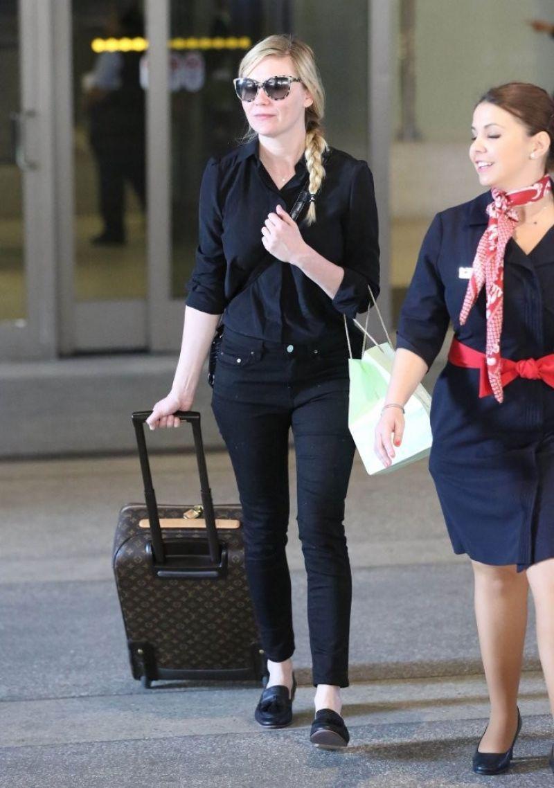 Kirsten Dunst Street Style LAX Airport, January 2014