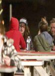 Kristen Stewart at a restaurant in Malibu (Jan. 2014)