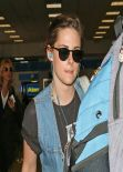 Kristen Stewart Street Style - Leaving from Burbank Airport, January 16, 2014