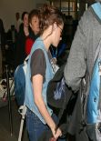 Kristen Stewart Street Style - Leaving from Burbank Airport, January 16, 2014