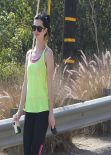 Krysten Ritter - Hike at Runyon Canyon Park in Los Angeles - January 2014