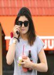 Kylie Jenner Street Style - Leaving a Juice Bar, January 2014