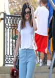 Kylie Jenner Street Style - Out for Lunch In Calabasas