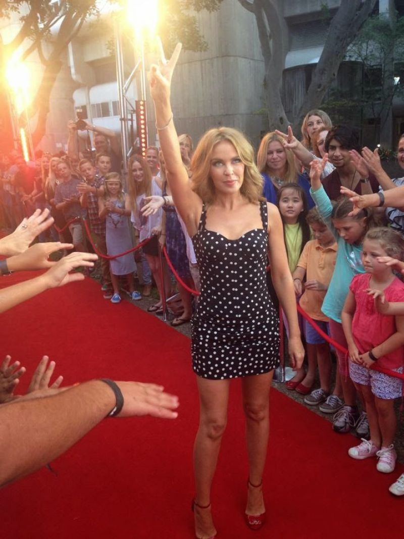 Kylie Minogue - The Voice (Australia) Red Carpet, January 2014