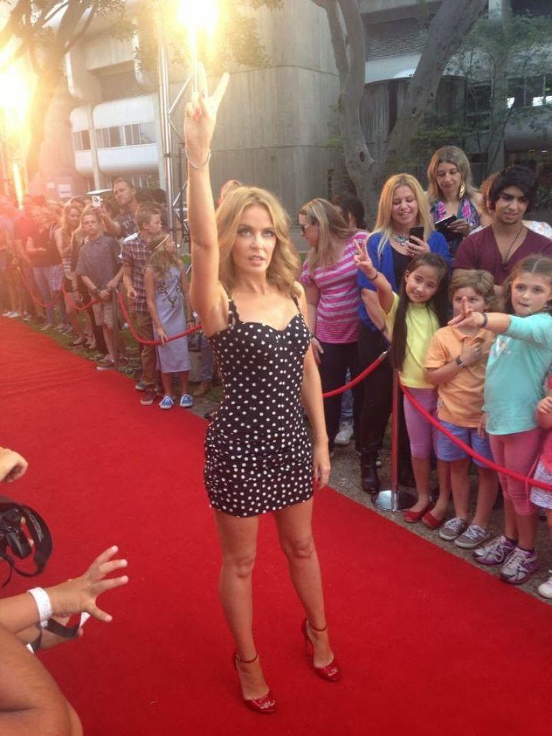Kylie Minogue - The Voice (Australia) Red Carpet, January 2014