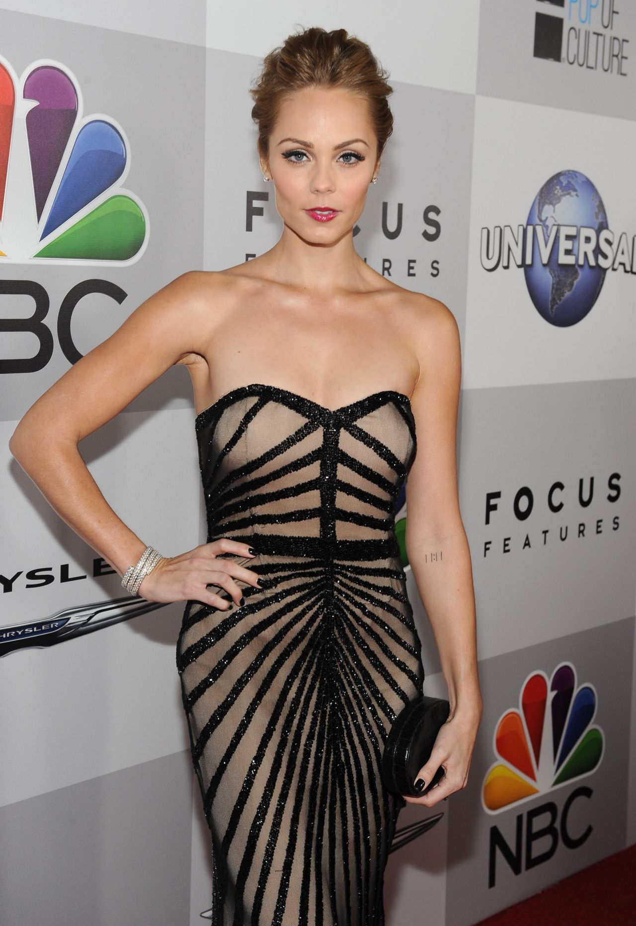 Laura Vandervoort Wears Rachel Gilbert at NBC Universal