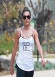 Lea Michele in Tights at Coldwater Canyon Park in Beverly Hills, January 2014