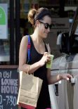 Lea Michele - in Tights at Earthbar West Hollywood - January 2014
