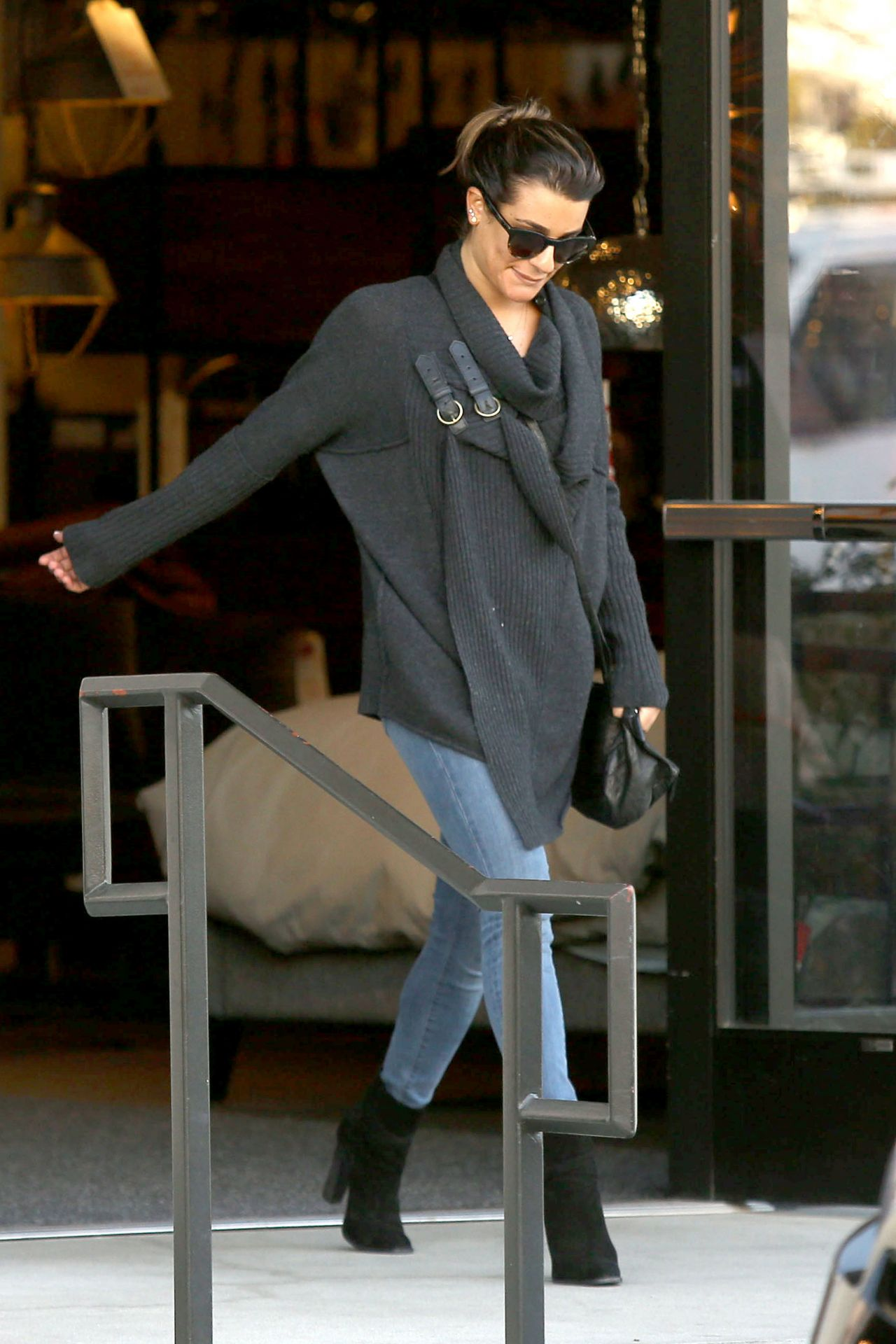 Lea Michele Street Style - January 2014