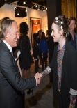 Lilly Collins Attends LA Art Show, January 2014