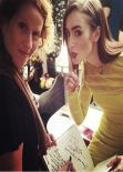Lilly Collins Twitter Instagram Whosay Personal Photos - January 2014 Collection