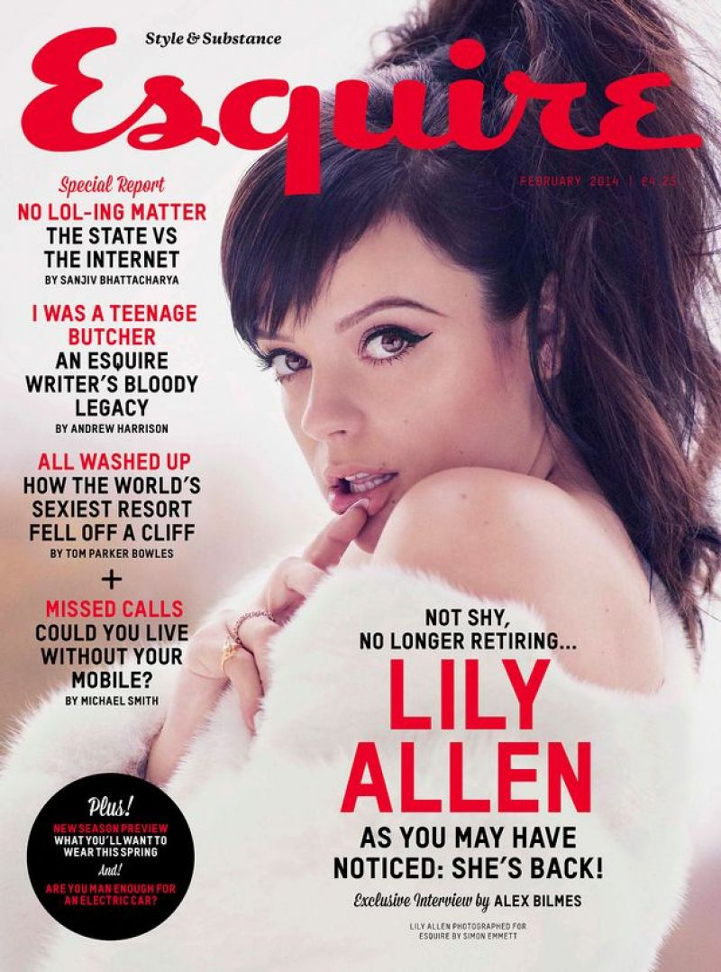 Lily Allen - ESQUIRE Magazine (UK) - February 2014 Issue