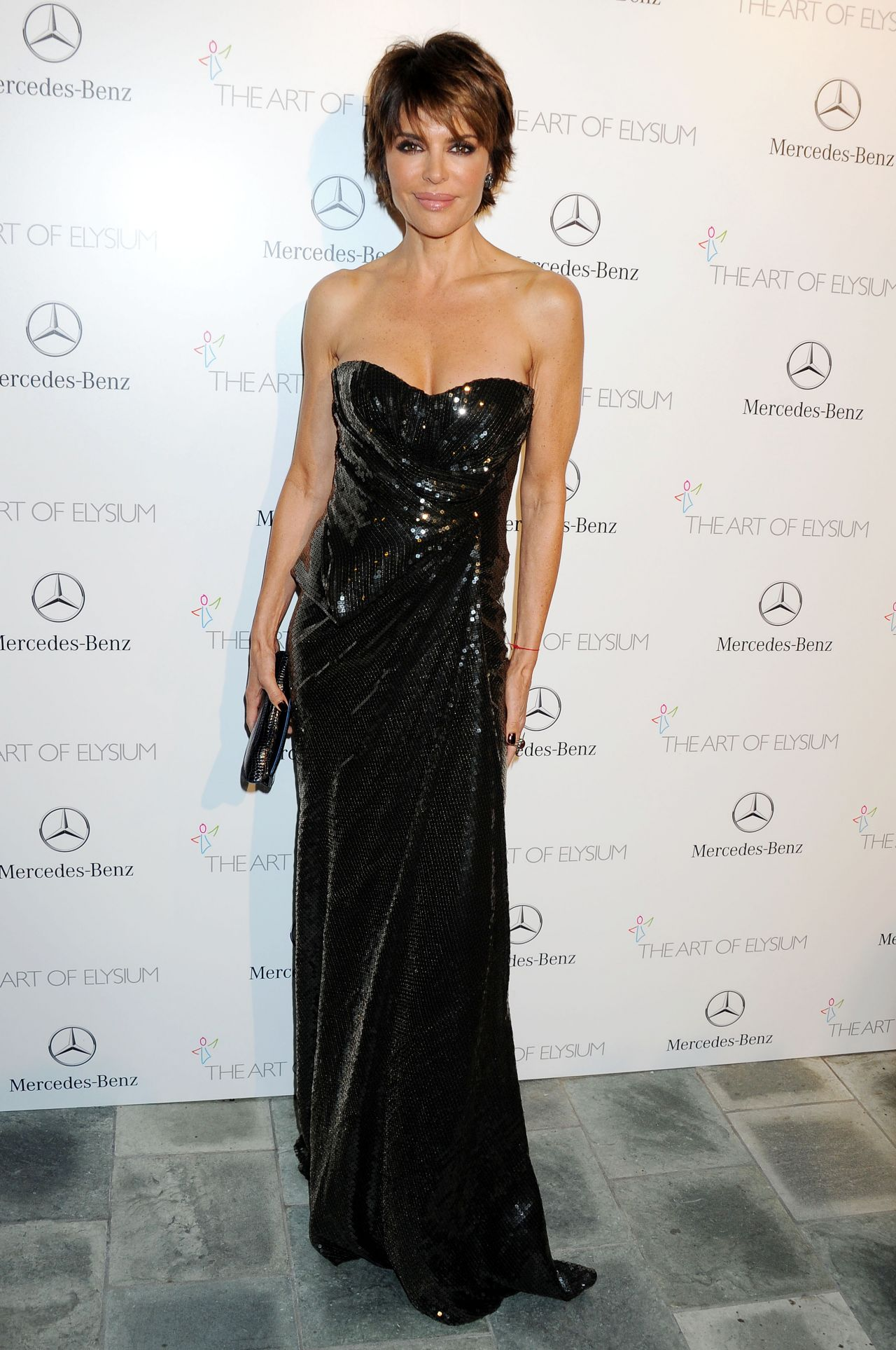 Lisa Rinna Wears Perrier-Jouet at The Art of Elysium HEAVEN Gala, January 2014
