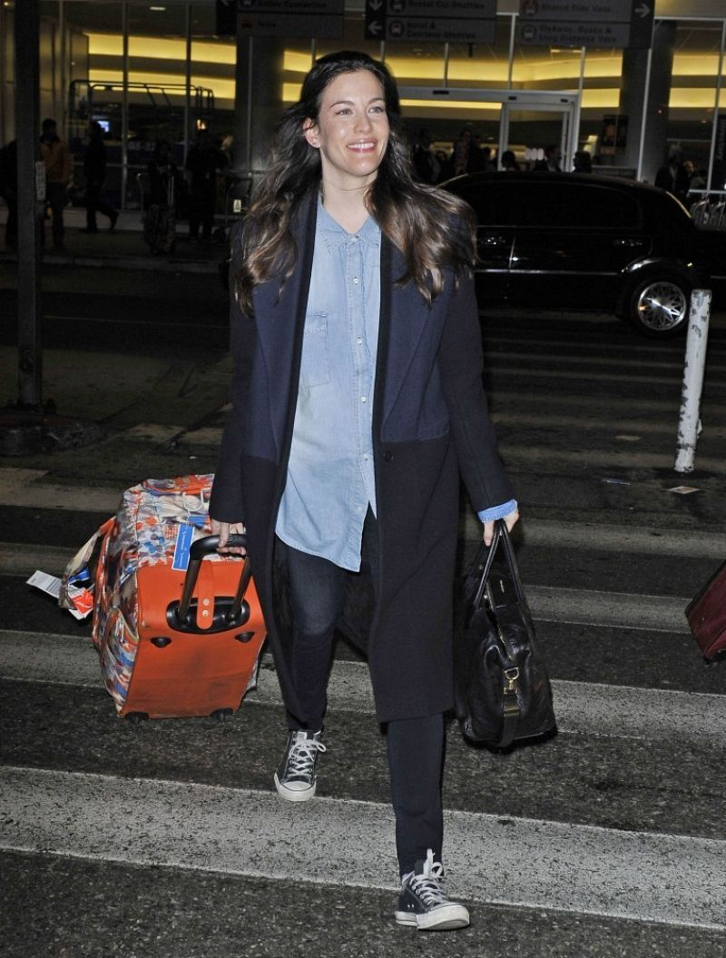 Liv Tyler at LAX Airport - January 2014