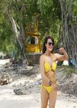 Lizzie Cundy In a Bikini on holiday in Barbados, December 2013