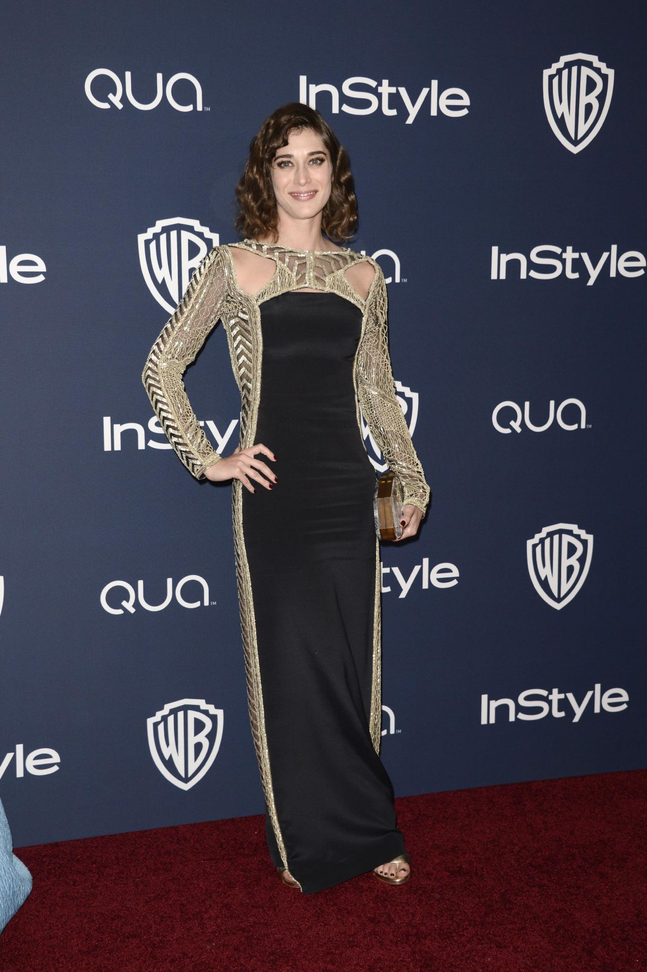 Lizzy Caplan - InStyle & Warner Bros. 2014 Golden Globes Party
