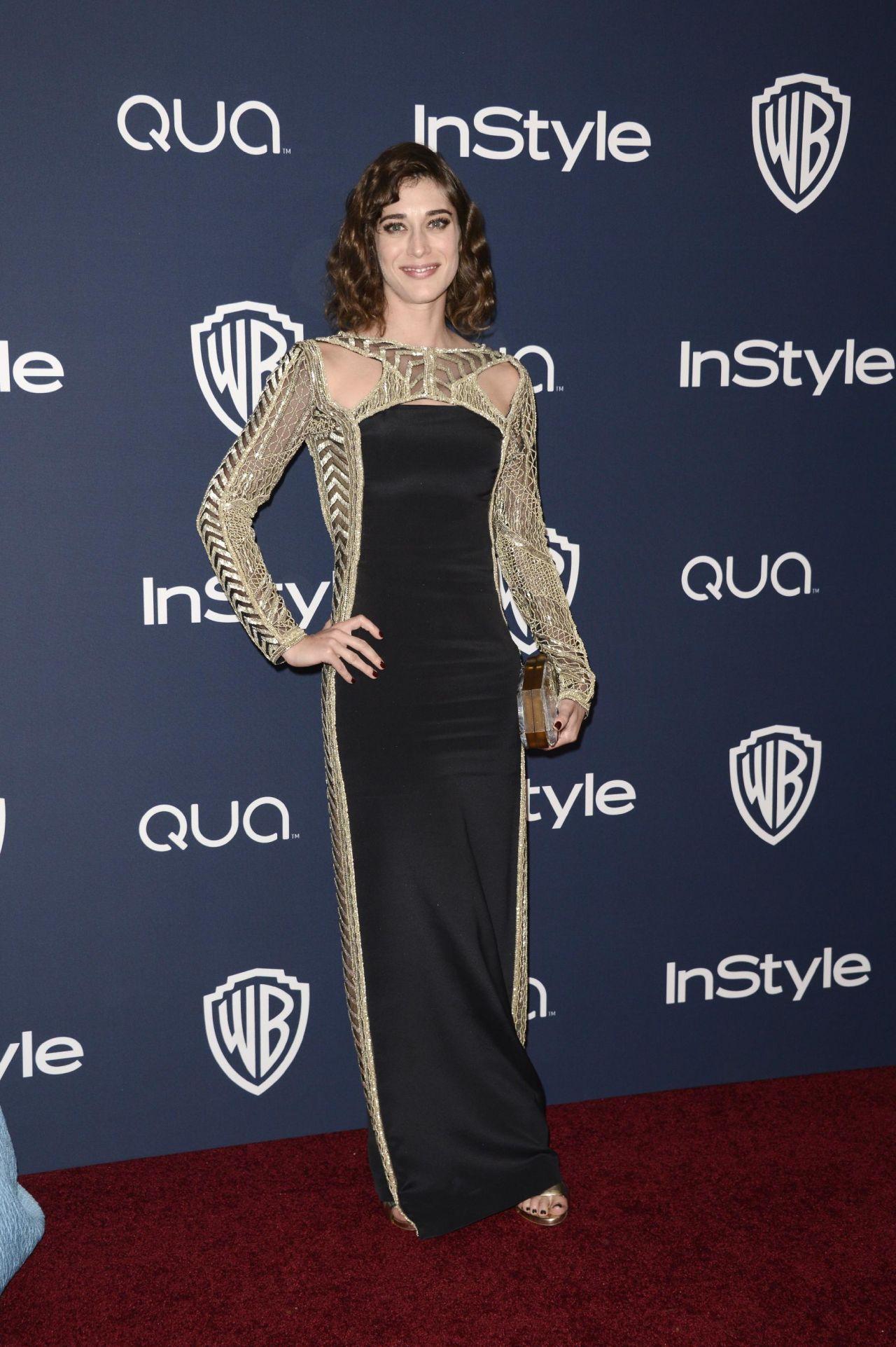 Lizzy Caplan - InStyle & Warner Bros. 2014 Golden Globes Party