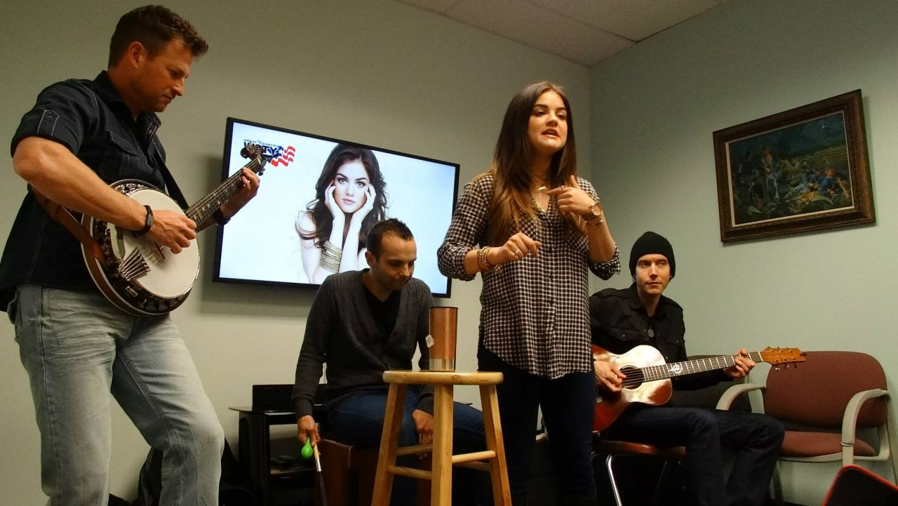 Lucy Hale at Great Country 107.7 WGTY - Gettysburg January 2014