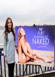 Lucy Watson Unveils Her Anti-Fur AD for PETA at Chelsea Bridge in London - January 2014