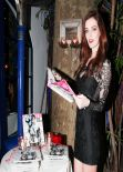 Lydia Hearst Attends NYLON Magazine Dinner, Los Angeles, January 2014
