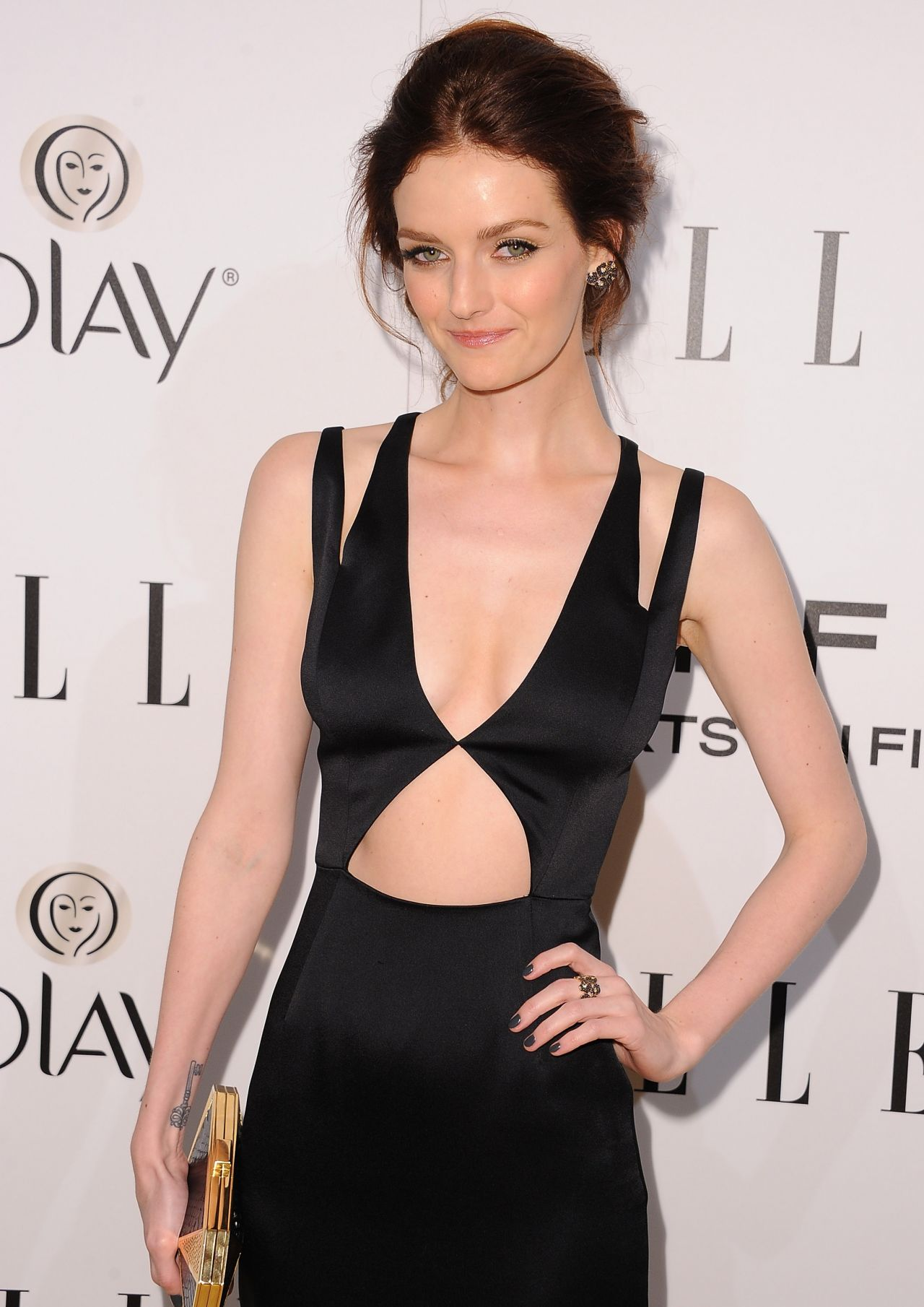 Lydia Hearst Wears Cushnie et Ochs at ELLE