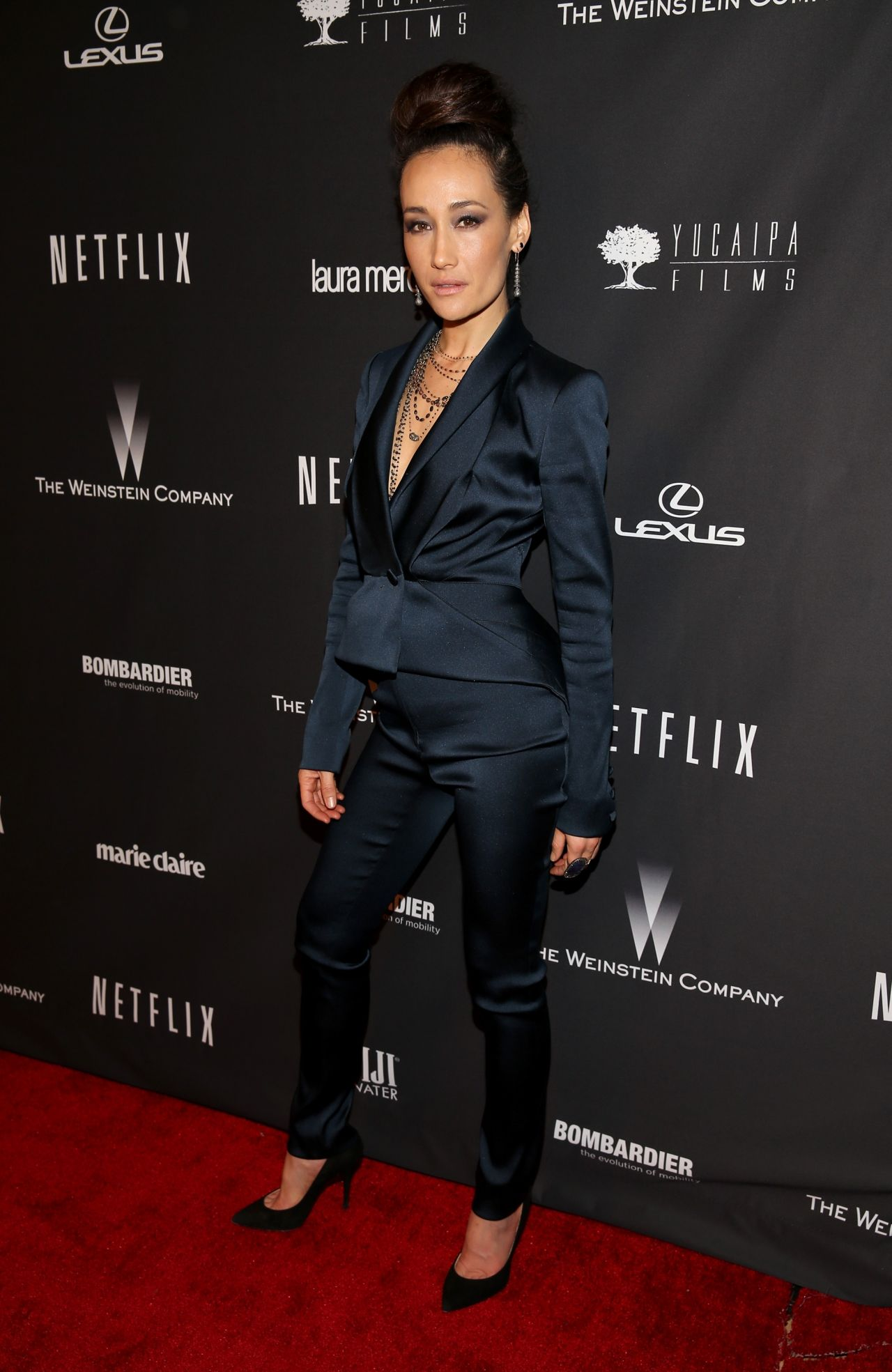 Maggie Q - The Weinstein Company & Netflix 2014 Golden Globe Afterparty