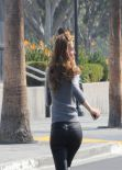 Maria Menounos - Hot in Leather Pants on the Extra Set - Universal City, January 2014