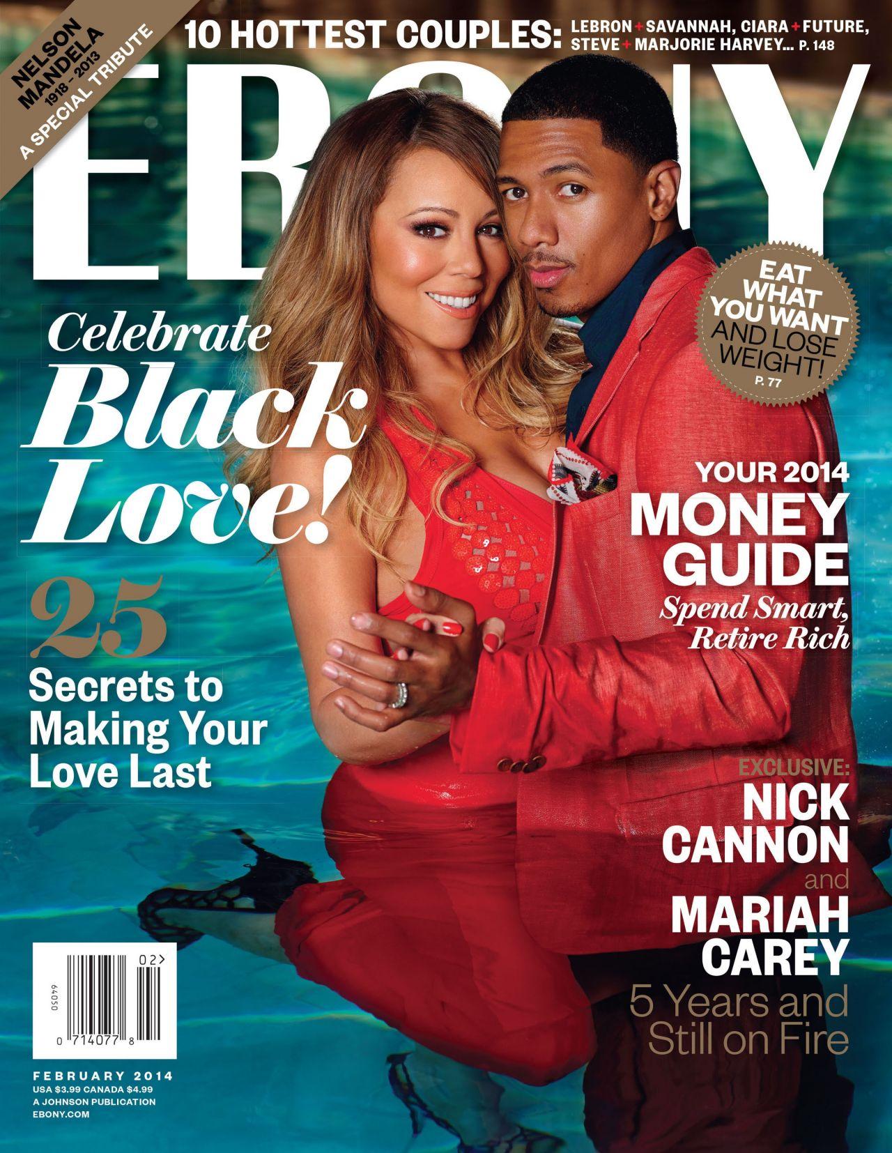 Mariah Carey - EBONY Magazine - February 2014 Issue