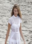 Maryna Linchuk - Photoshoot for VOGUE - Shell Beach, St. Barths, January 2014