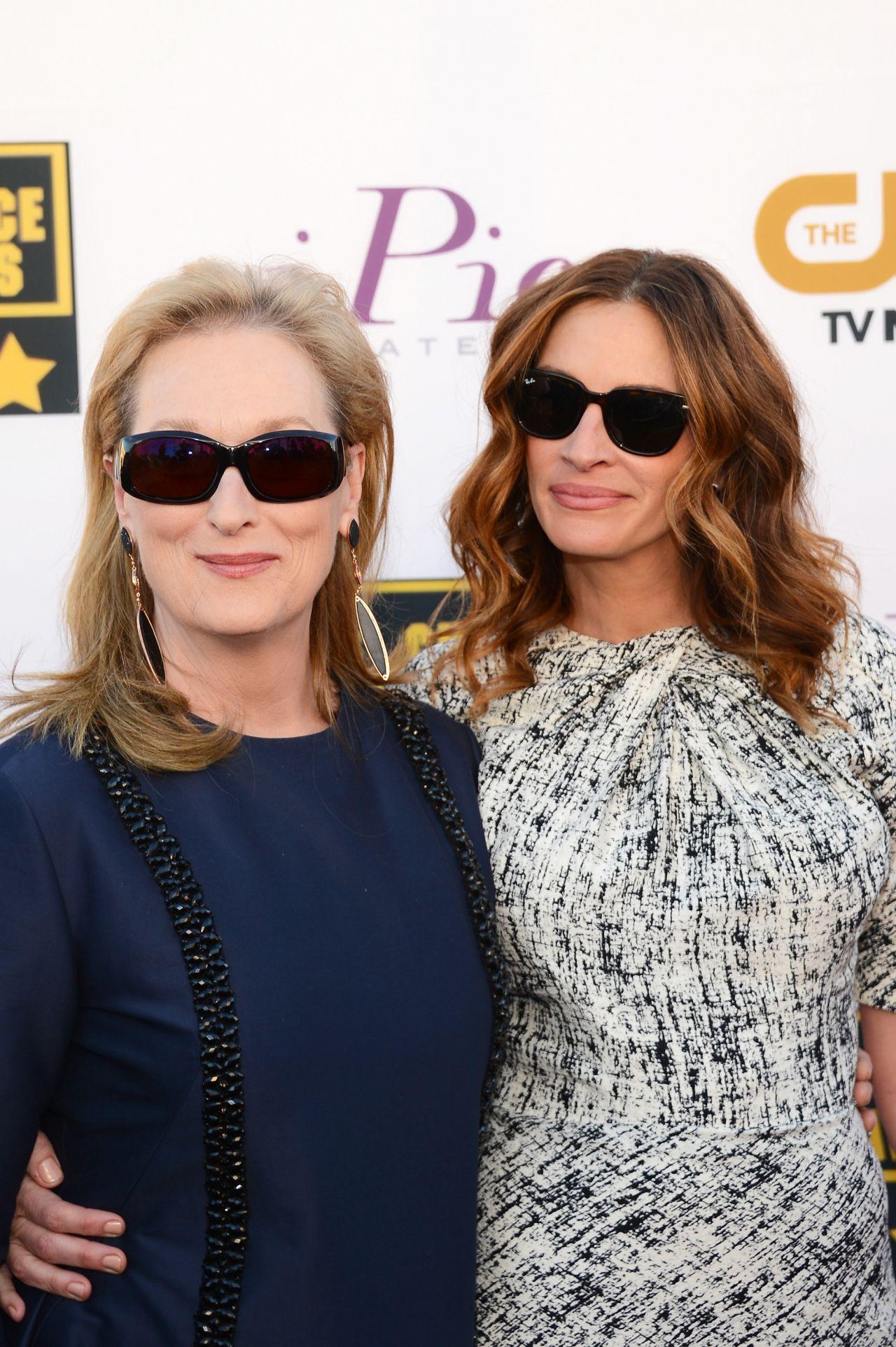 Meryl Streep & Julia Roberts at 19th Annual Critics Choice Movie Awards in Santa Monica, January 2014