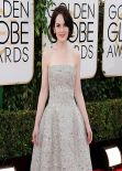 Michelle Dockery Wears Oscar de la Renta at 2014 Golden Globe Awards Red Carpet