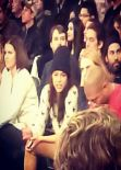 Michelle Rodriguez and Cara Delevingne Attend The Detroit Pistons Vs New York Knicks Game in New York City - January 2014