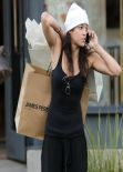 Michelle Rodriguez Street Style - Shopping in Beverly Hills, January 2014