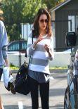 Mila Kunis Street Style -  in Spandex Out in LA, January 2014