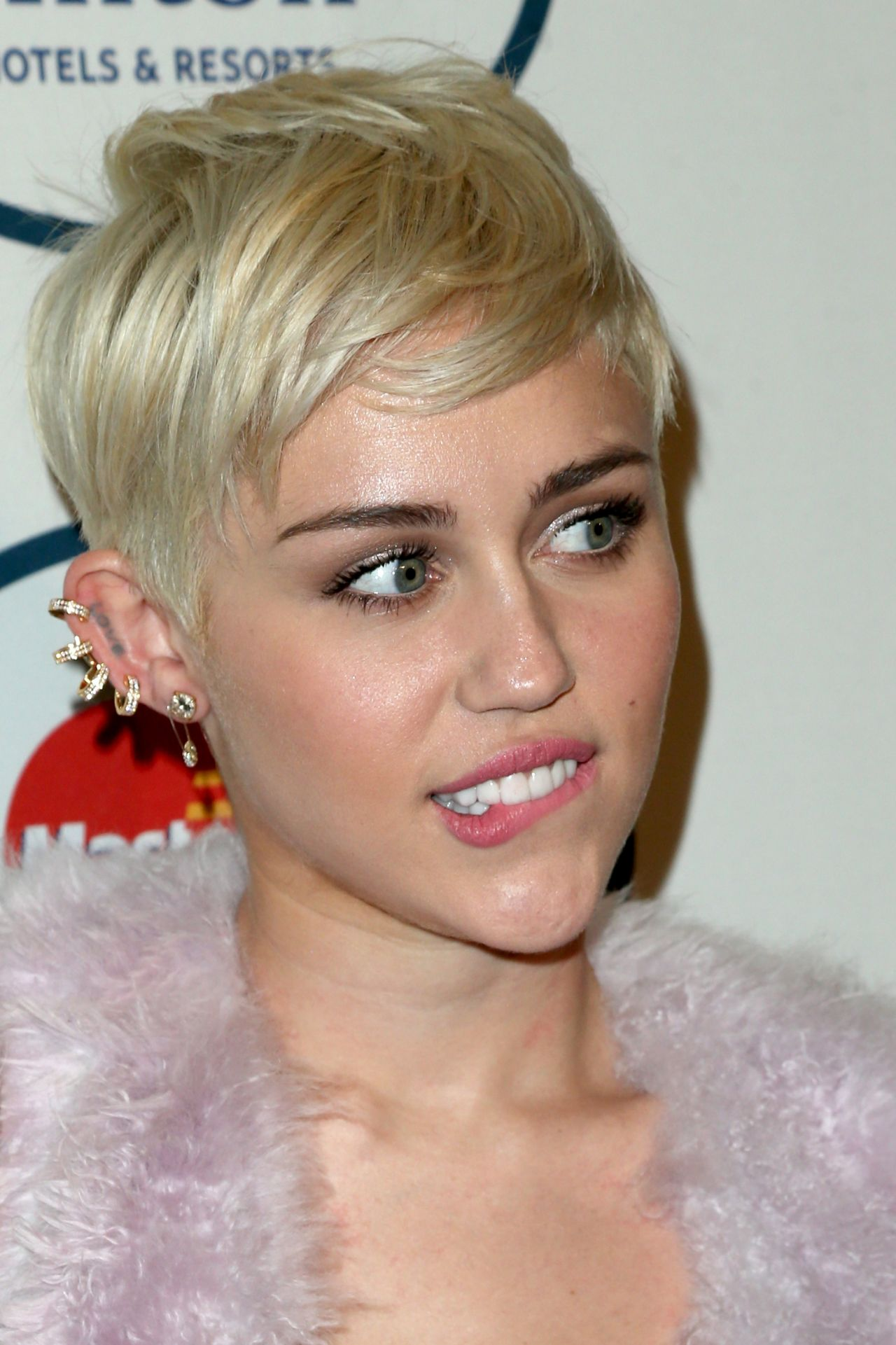 Miley Cyrus Pre Grammy Gala In Los Angeles January 2014