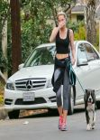 Miley Cyrus Street Style - Out for a walk in Los Angeles - January 2014