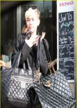 Miley Cyrus Street Style - Out for Lunch in Los Angeles - Januaru 2014