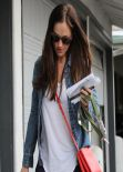 Minka Kelly Casual Style - Out in Los Angeles - January 2014