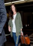 Minka Kelly in Jeans at LAX Airport. January 13, 2014