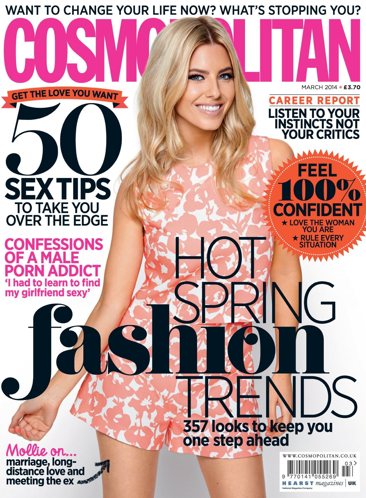 Mollie King - COSMOPOLITAN Magazine (UK) - March 2014 Cover