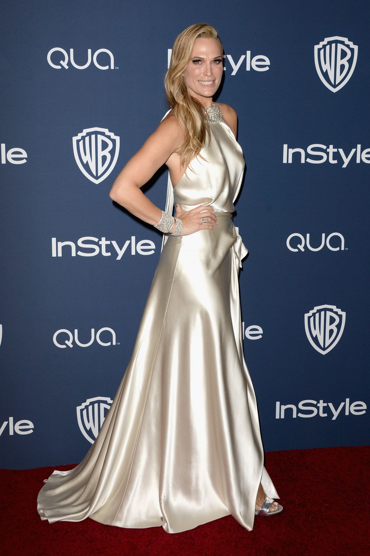 Molly Sims at InStyle & Warner Bros. Golden Globes Afterparty, January 2014