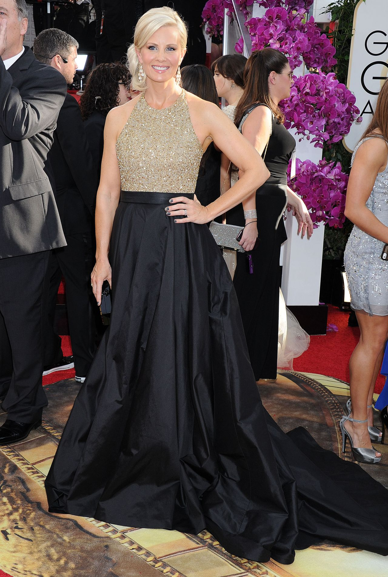 Monica Potter Attends 71st Annual Golden Globe Awards (2014)