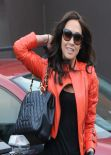 Myleene Klass Street Style - London, January 2014