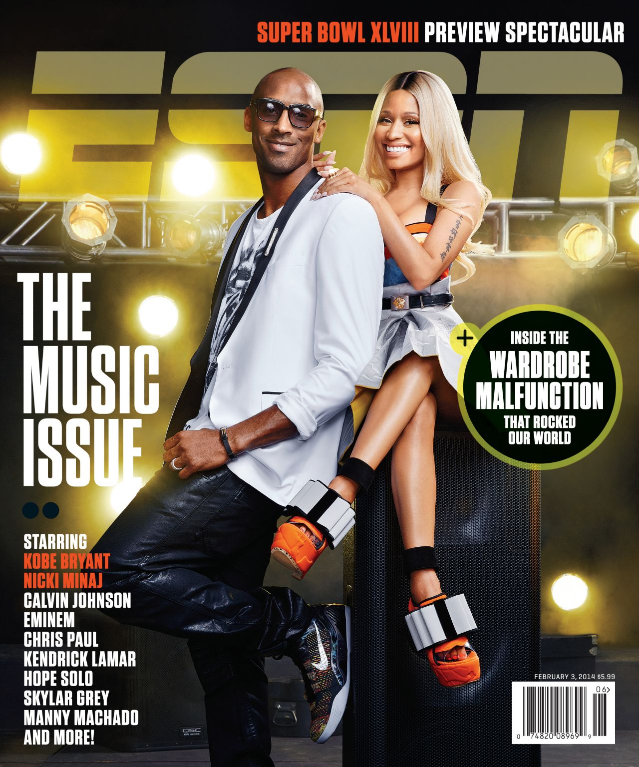Nicki Minaj - ESPN The Magazine - February 2014 Cover