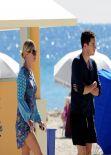 Nicky Hilton Beach Style - South Beach, Florida, January 2014