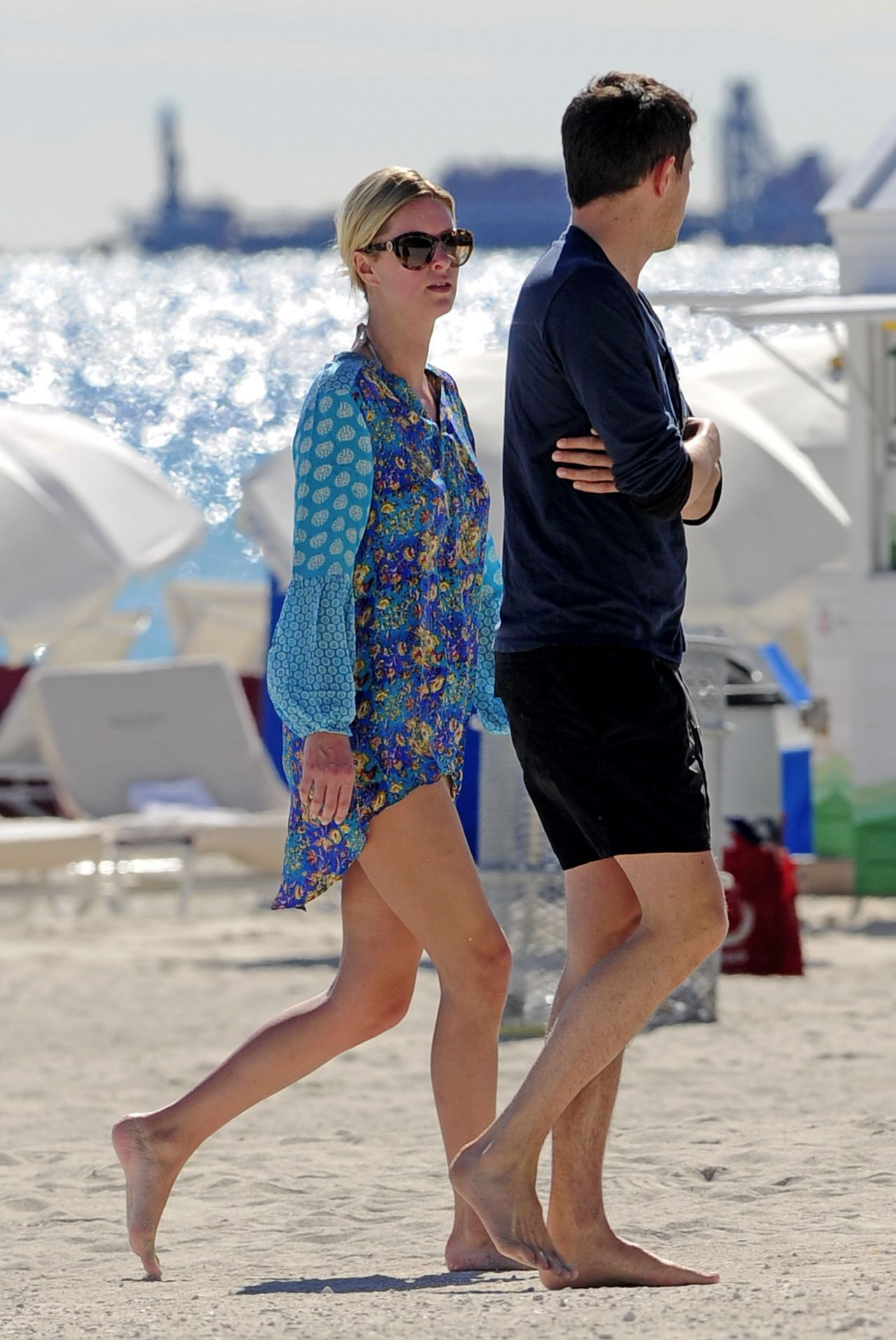 Nicky Hilton Beach Style South Beach Florida January 2014