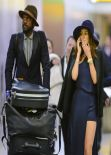 Nicole Trunfio Style - JFK Airport in New York City, January 2014
